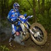 Motocross bike in the mud